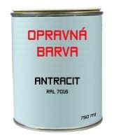 PREFA opravná barva 0,75 l - Antracitová ~ RAL 7016