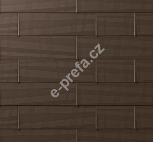 PREFA fasádní panel fx.12 velký, povrch hladký, Vojenská hnědá - khaki P.10