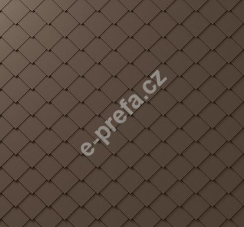PREFA fasádní šablona 29x29, povrch stucco, Vojenská hnědá - khaki P.10
