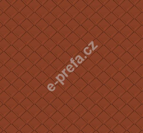 PREFA falcovaná šablona 29x29, povrch stucco, Cihlově červená P.10