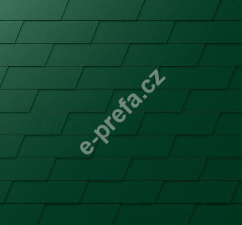 PREFA fasádní šindel xl, povrch stucco, Mechově zelená P.10