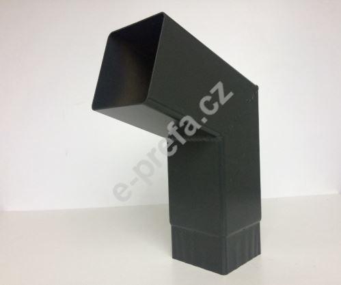 PREFA hranaté koleno krátké 72°, 100 x 100 mm