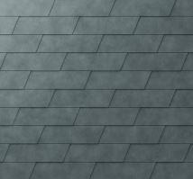 PREFA fasádní šindel xl, povrch stucco, Břidlicová P.10