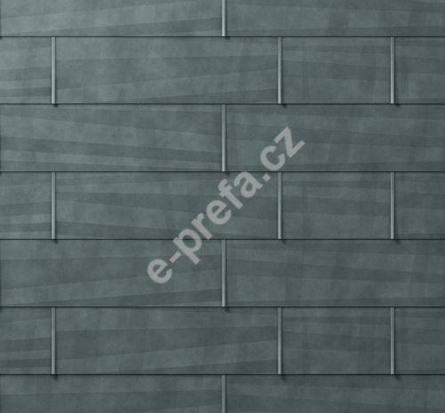 PREFA fasádní panel fx.12 velký, povrch hladký, Břidlicová P.10
