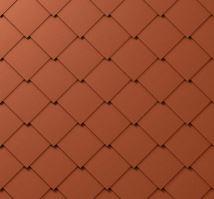 PREFA falcovaná šablona, 44 x 44 mm stucco, Cihlově červená P.10