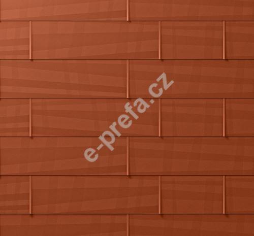 PREFA střešní panel fx.12, 1400 x 420 mm velký hladký, Cihlově červená P.10