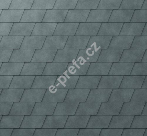 PREFA fasádní šindel, povrch stucco, Břidlicová P.10