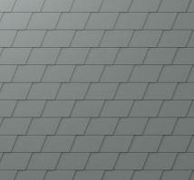 PREFA falcovaný šindel DS.19, povrch stucco, Světle šedá P.10