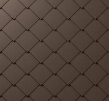 PREFA fasádní šablona 44 x 44 - stucco - Tmavě hnědá P.10