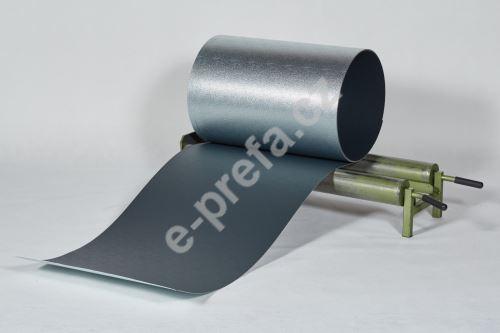 PREFA hliníkový plech Prefalz 0,70 x 1000mm Antracit P.10 stucco