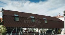 PREFA fasádní šablona 29 x 29 - stucco - Oříšková P.10