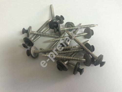 PREFA nerez šrouby s těsněním 4,5 x 60 mm pro hřebenáč jet-lüfter, P.10
