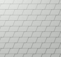 PREFA fasádní šindel - stucco - Přírodní hliník P.10