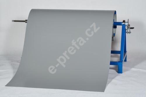 PREFA clr plech ve svitku 0,7 x 1000mm + folie, Světle šedá/Světle šedá