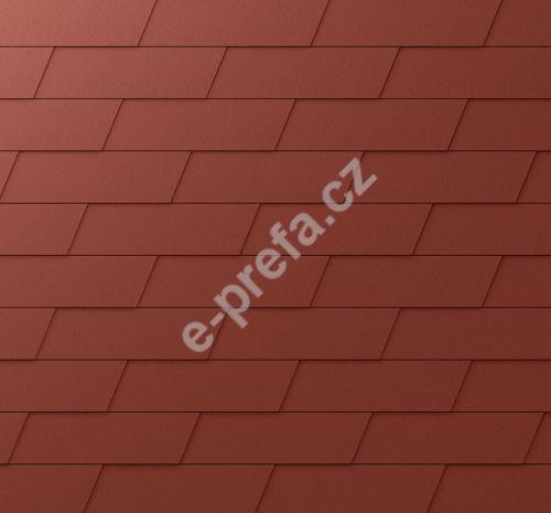 PREFA fasádní šindel xl, povrch stucco, Tmavě červená P.10
