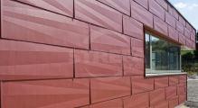 PREFA fasádní panel fx.12 malý, povrch hladký, Tmavě červená P.10