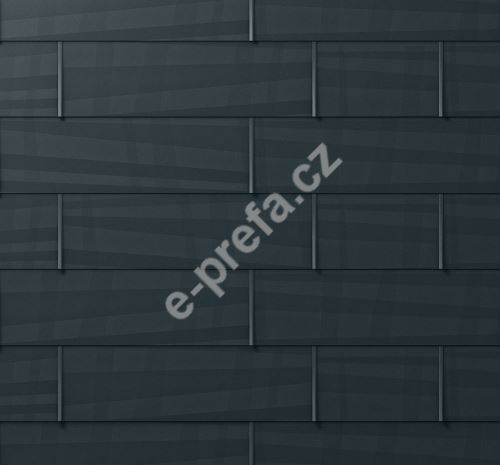 PREFA fasádní panel fx.12 malý, povrch hladký, Antracit P.10