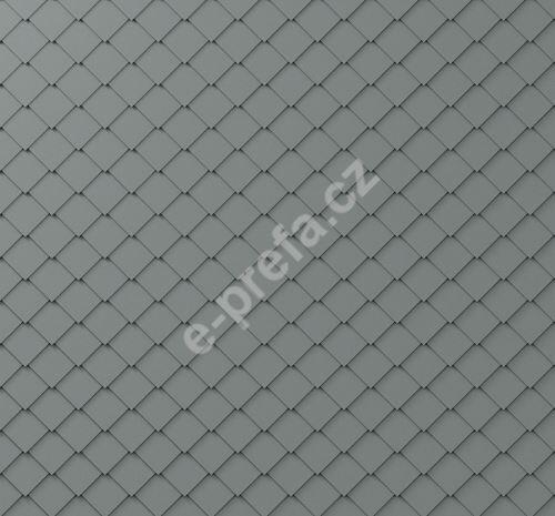 PREFA fasádní šablona malá 20x20, povrch stucco, Světle šedá P.10