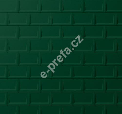PREFA střešní panel r.16, 700 x 420 mm stucco, Mechově zelená P.10