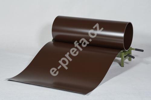 PREFA clr plech ve svitku 0,7 x 1000mm, oříšek/oříšek + folie