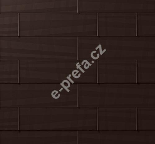 PREFA střešní panel fx.12, 1400 x 420 mm velký hladký, Oříšková P.10