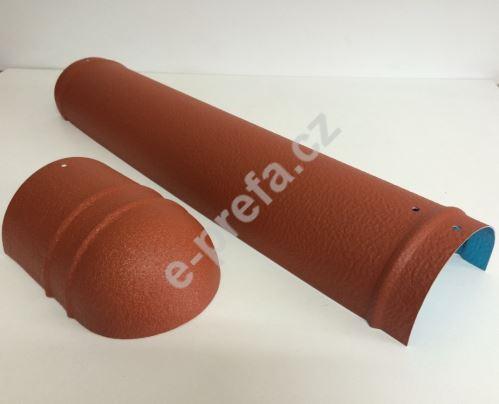 PREFA hřebenáč malý stucco, dl. 500 mm , tl. 1,00 mm, P.10