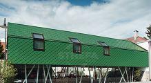 PREFA fasádní šablona 29x29, povrch stucco, Mechově zelená P.10