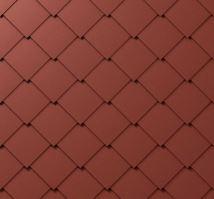 PREFA falcovaná šablona, 44 x 44 mm stucco, Tmavě červená P.10