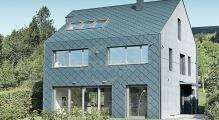 PREFA fasádní šablona 44x44, povrch stucco, Antracit P.10
