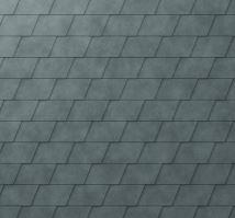 PREFA falcovaný šindel DS.19, povrch stucco, Břidlicová P.10