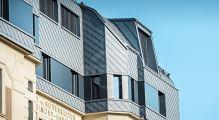 PREFA fasádní šablona 29x29, povrch stucco, Světle šedá P.10