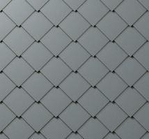 PREFA falcovaná šablona, 44 x 44 mm stucco, Světle šedá P.10
