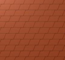 PREFA falcovaná šindel, povrch stucco, Cihlově červená P.10