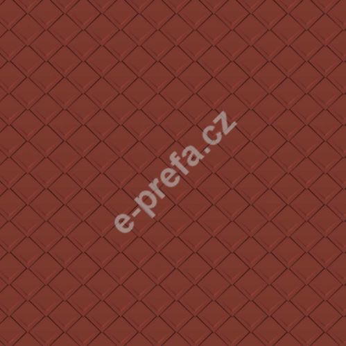 PREFA falcovaná šablona 29x29, povrch stucco, Tmavě červená P.10