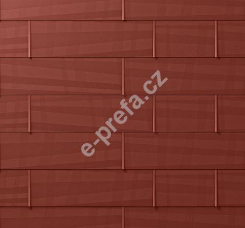 PREFA střešní panel fx.12, 1400 x 420 mm velký hladký, Tmavě červená P.10