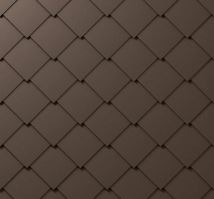 PREFA falcovaná šablona, 44 x 44 mm stucco, Vojenská hnědá - khaki P.10