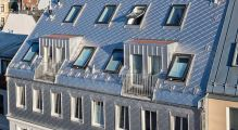 PREFA fasádní šablona 29x29, povrch stucco, Přírodní hliník P.10
