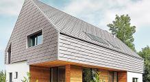 PREFA fasádní šindel xl, povrch stucco, Přírodní hliník P.10