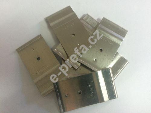 PREFA patentované příchytky pro tašky a šindele,Přírodní hliník