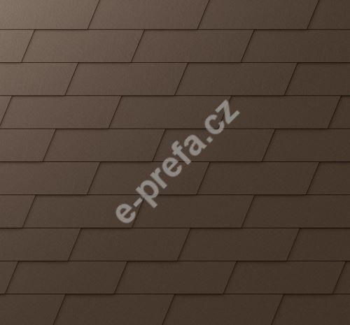 PREFA fasádní šindel xl, povrch stucco, Vojenská hnědá - khaki P.10