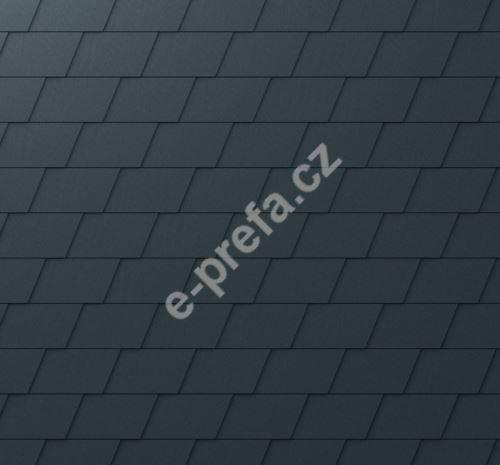 PREFA falcovaná šindel, povrch stucco, Antracit P.10