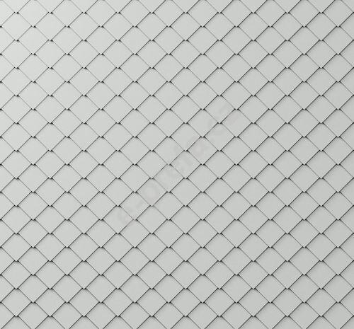 PREFA fasádní šablona malá 20x20, povrch stucco, Přírodní hliník P.10