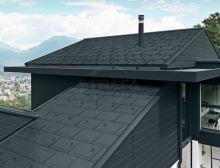 PREFA střešní panel r.16, 700 x 420 mm stucco, Černá P.10