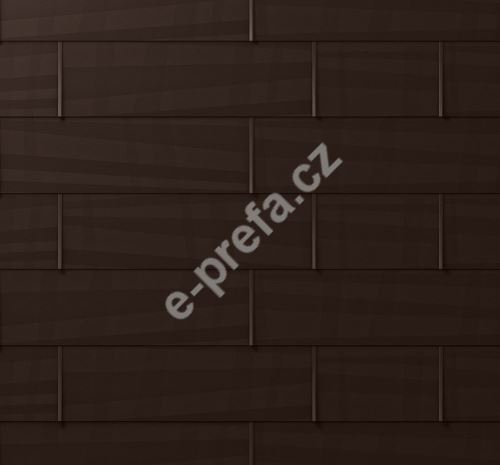 PREFA střešní panel fx.12, 700 x 420 mm malý hladký, Oříšková P.10