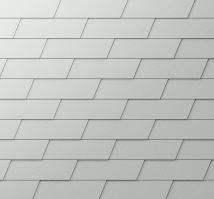 PREFA fasádní šindel XL - stucco - Přírodní hliník P.10