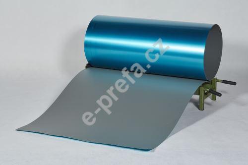 PREFA hliníkový plech Prefalz 0,70 x 1000 mm Světle šedáP.10 hladká