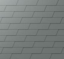 PREFA fasádní šindel XL - stucco - Světle šedá P.10