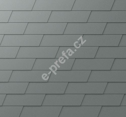 PREFA fasádní šindel xl, povrch stucco, Světle šedá P.10
