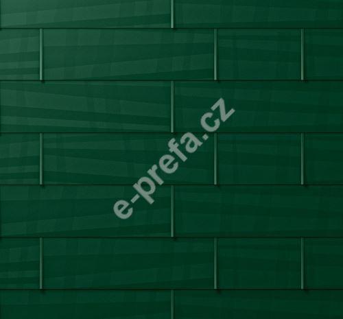 PREFA fasádní panel fx.12 velký, povrch hladký, Mechově zelená P.10