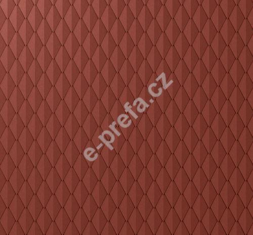 PREFA věžovka stucco, 305 x 175 mm, Tmavě červená P.10
